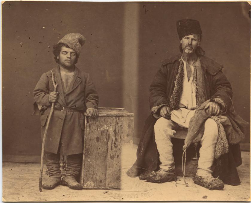 Slika 3. Michał Greim, Moldavski pritlikavec in plemič podoljske rase iz okolice Hotina (A Moldawan dwarf and a nobleman of the Podolian race from the Chocim region), 1870–1880, anilinski tisk.