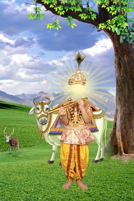 Naresh Bhatia, Digitalna predloga ozadja. Studio v centralni Indiji, n.d. Z dovoljenjem Christopherja Pinneyja.