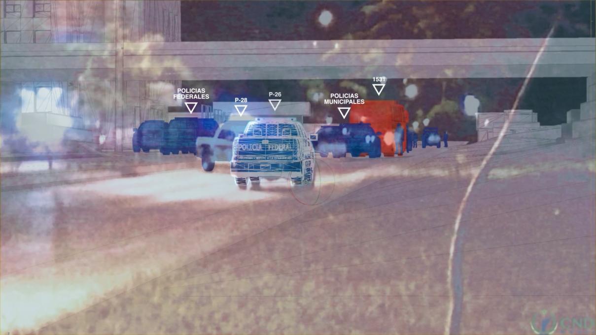 Slika 8. Primer Ayotzinapa. Metapodatki na izseku z videoposnetka.