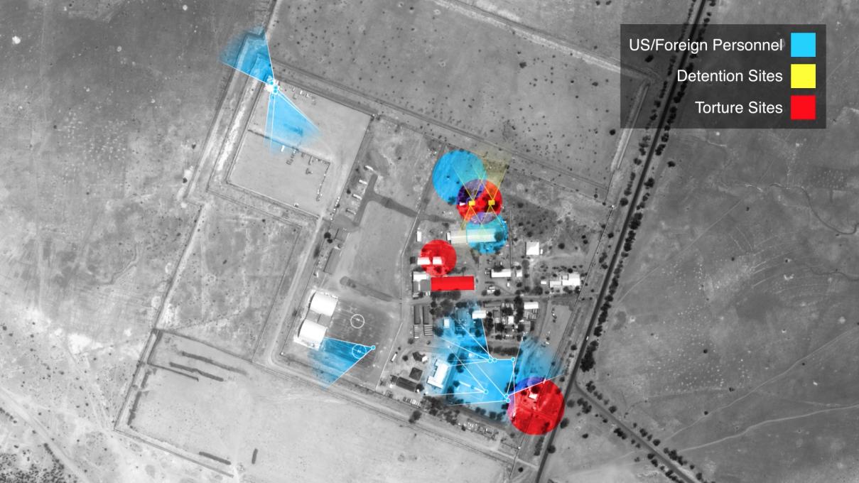 Slika 9. Zemljevid in rekonstrukcija dogodkov v vojni s podporo ZDA proti skupini Boko Haram.