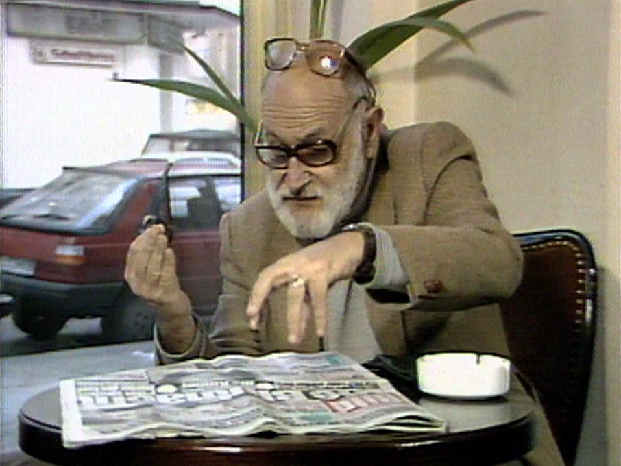 Harun Farocki, Gesla v besedi in sliki. Pogovor z Vilémom Flusserjem. © Harun Farocki 1986