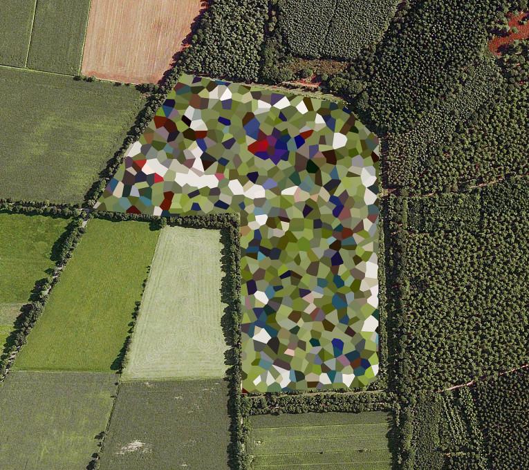 Slika 7, Mishka Henner, Skladišče orožja Staphorst, Overijssel, 2011. Iz serije NIzozemska krajina (Dutch Landscapes).