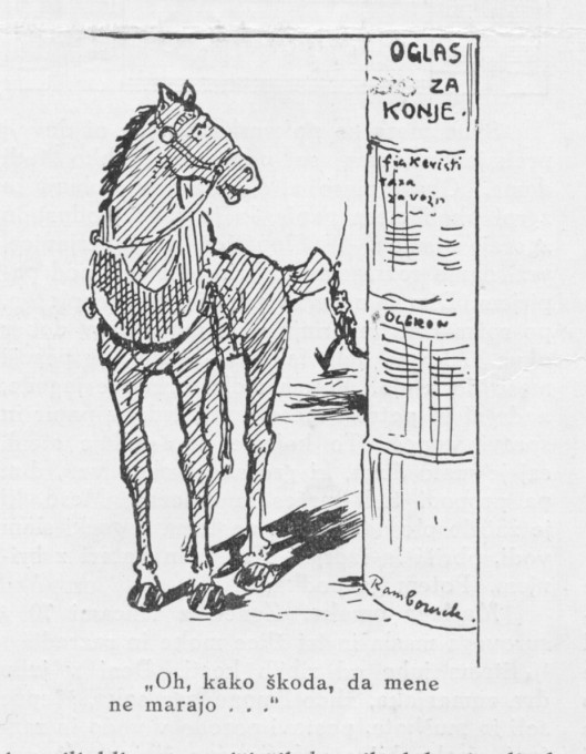Slika 1. Nabor za konje. (Ilustrirani glasnik 1915, št. 18, 182).