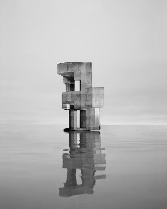 Noémie Goudal, iz serije Observatoires, Observatoire VIII, 2014. Z dovoljenjem umetnice.
