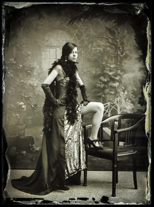 Borut Peterlin, mokri kolodij posnet v Pelikanovem studiu. © Borut Peterlin. Z dovoljenjem avtorja.