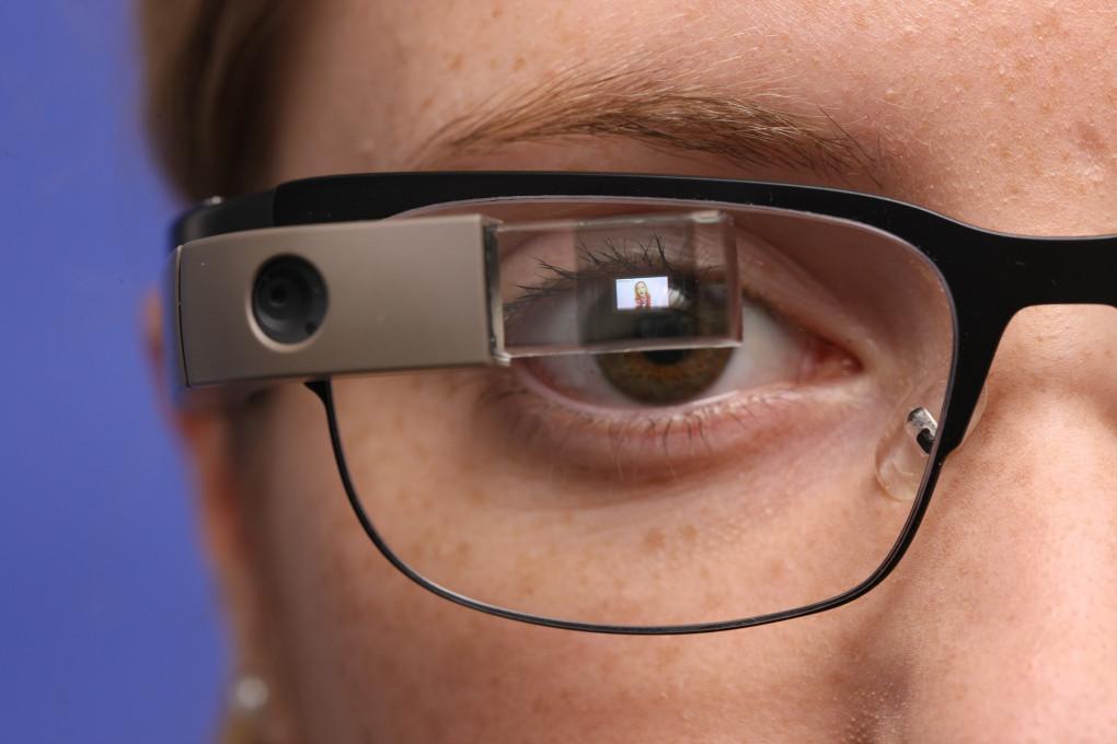 Slika 12 Fraunhoferjev inštitut za integrirana vezja, 2014. SHORE™ aplikacija za Google Glass (aplikacija za Google Glass SHORE™app for Google Glass). [digitalna fotografija] (Erlangen, Nemčija: Fraunhofer IIS). Objavljeno z dovoljenjem.