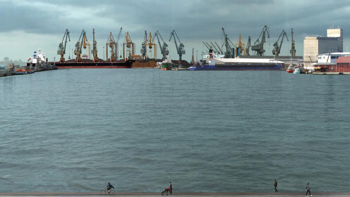 Pristanišče (The Port), 2015, videoprojekcija.