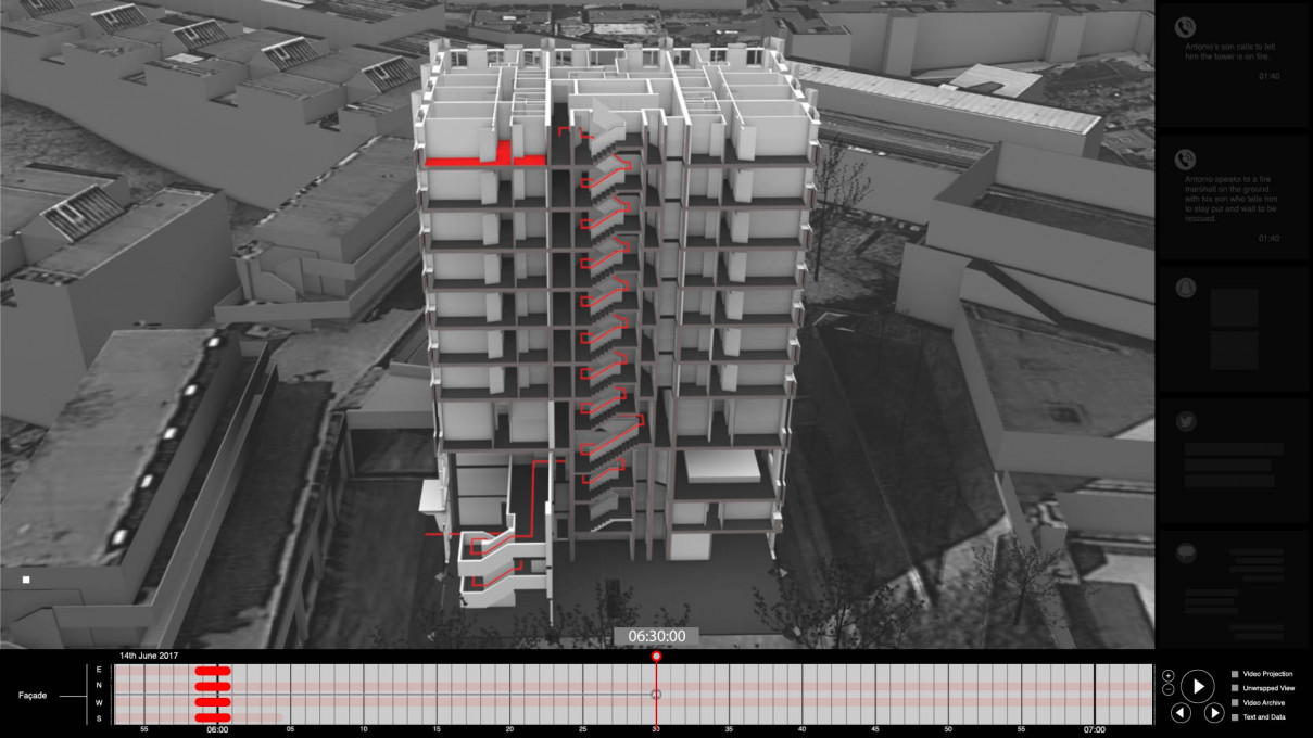 Grenfell Tower Fire, London. 14 June 2017. Partial 3D reconstruction of the event.