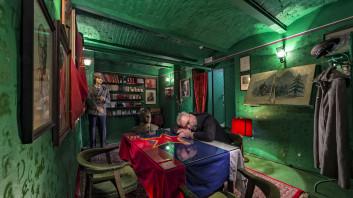 Branko Čeak, Domen Pal in Jože Maček: Red Corner in Hotel Union, from the series (Un)Known Ljubljana, 2013. Exhibited as a part of Ljubljana. A View with a Difference exhibition at CD Mala galerija, Ljubljana 2015. Courtesy of the artists.