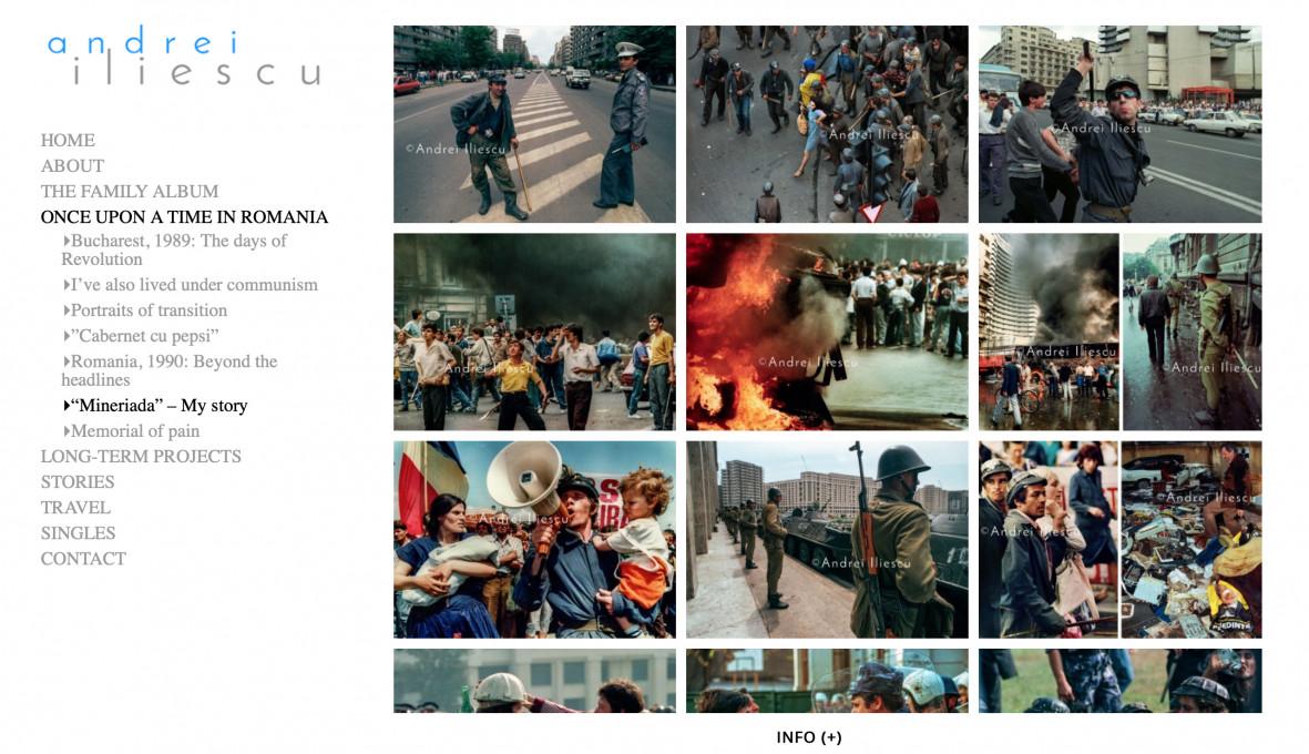 Slika 2. Spletna stran Andreija Iliescuja. Zajem zaslona, 17. julij, 2019.