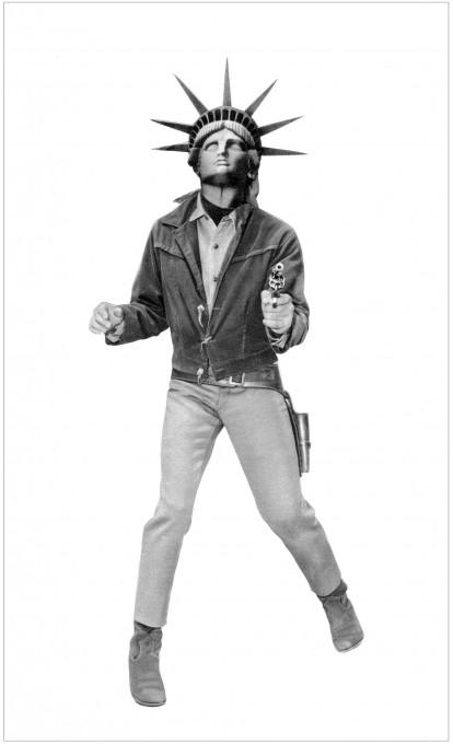 Stane Jagodič: Quo vadis homo?, fotomontaža, 1973. Z dovoljenjem avtorja.