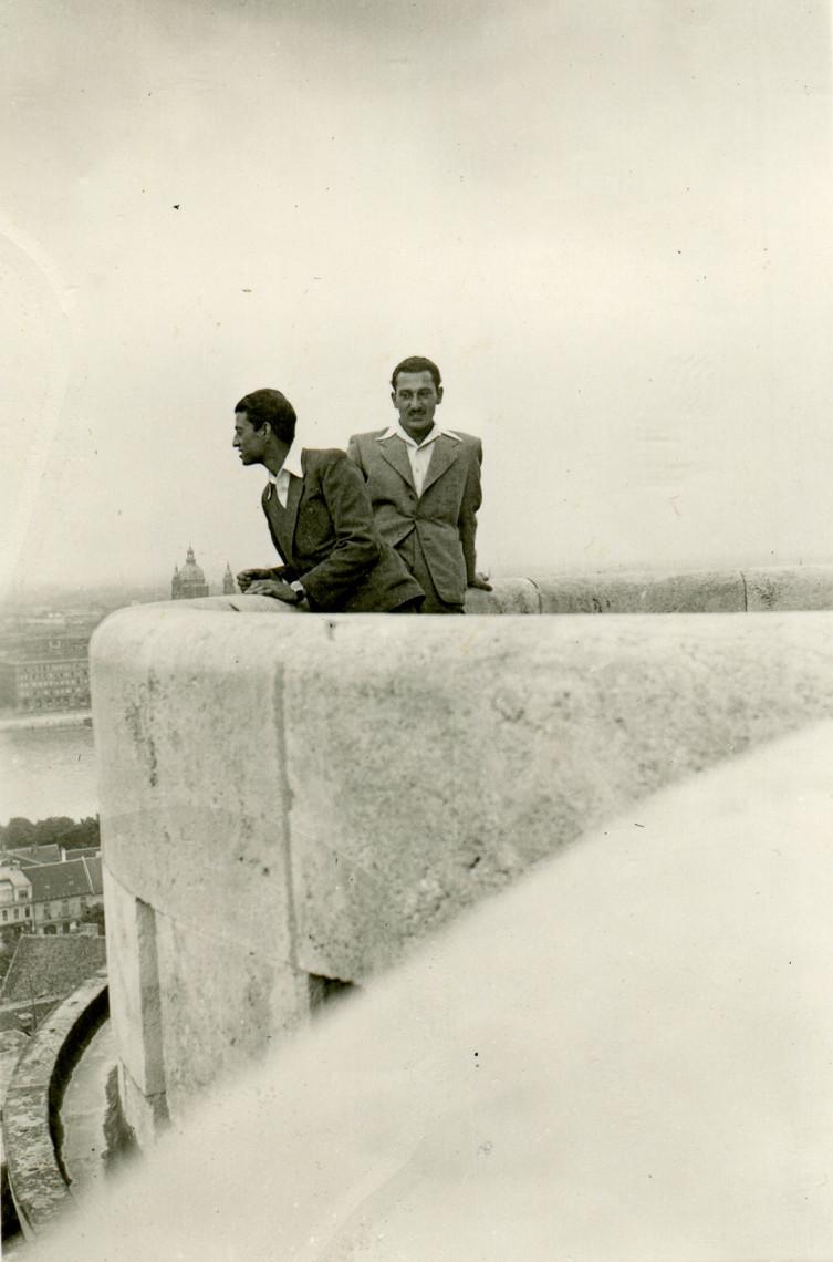 Tibor Adam in Budapest, Hungary; Date: 1942/44. Courtesy of Mirko Adam.