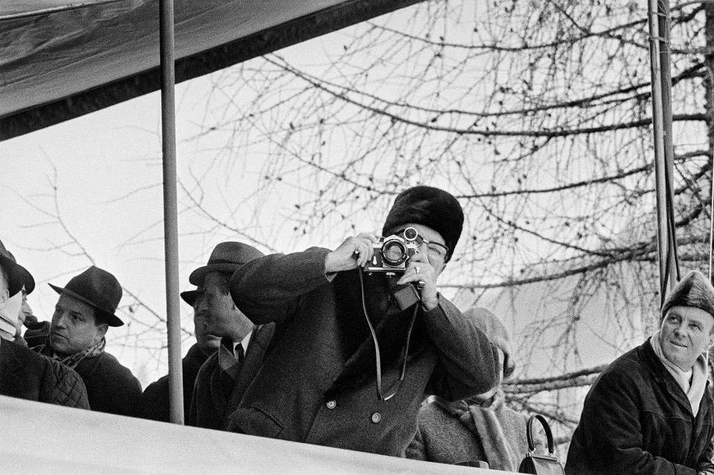 Joco Žnidaršič, Tito v Planici, 1969. Z dovoljenjem Galerije Fotografije. © Joco Žnidaršič