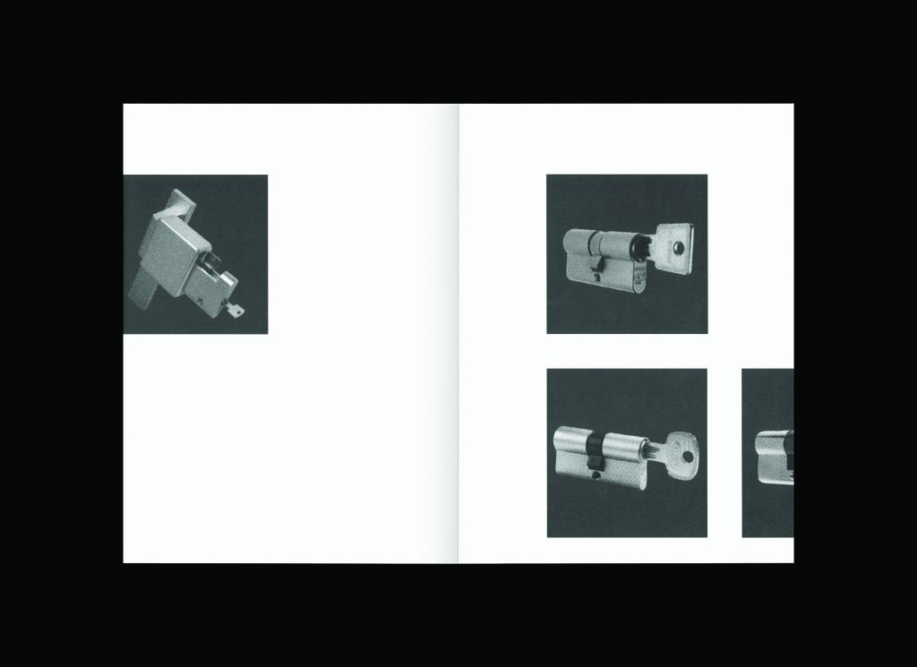 Klemen Ilovar, Locks And Keys Samozaložba, mehka vezava, naklada 30, format 20 x 27.5 cm, 36 strani, 2015.