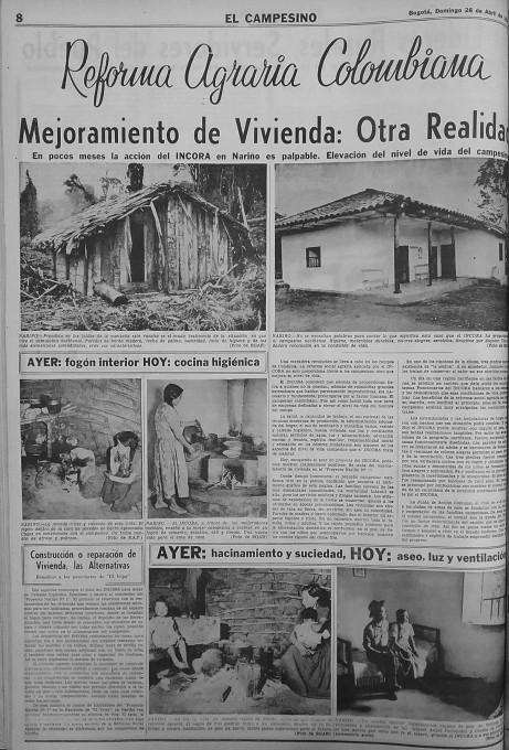Slika 4. Efraín García-Egar, fotografije ob prispevku »Kolumbijska agrarna reforma. Izboljšave stanovanj: nova realnost.«, El Campesino, 26. april 1968, 8.