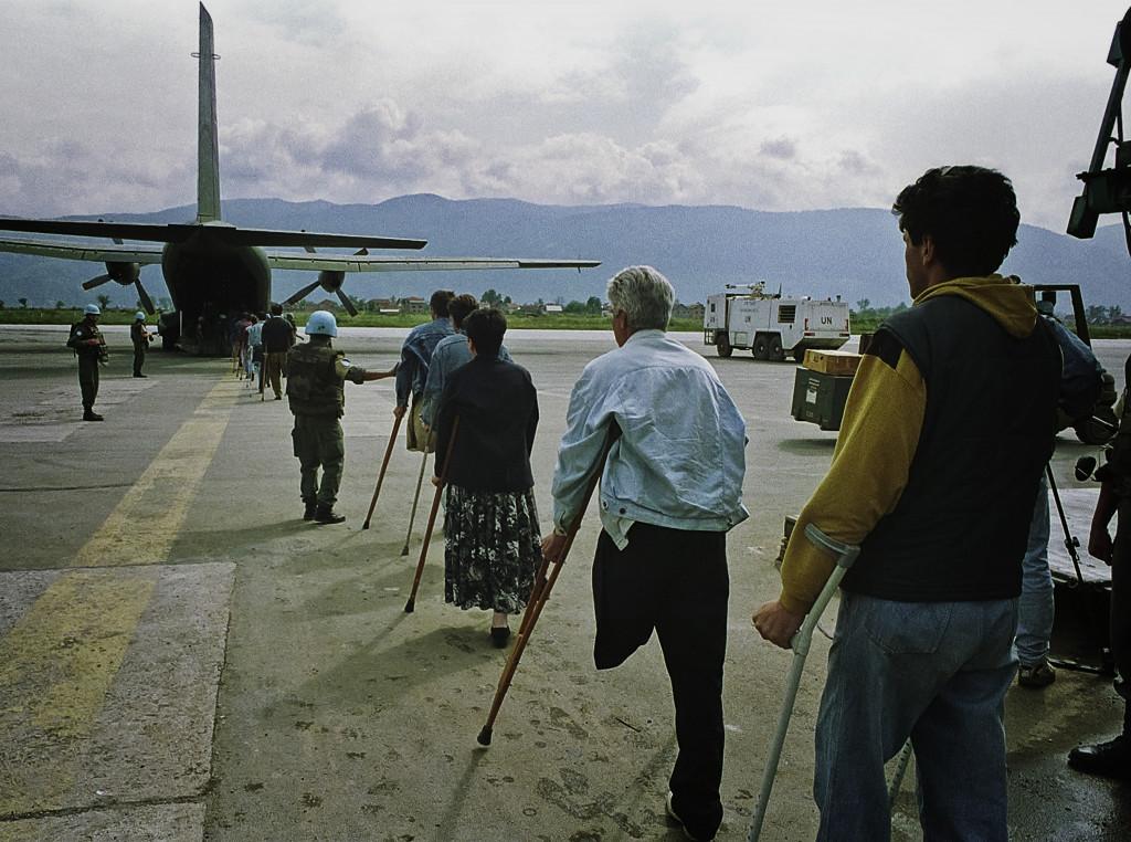 Rikard Larma, Evakuacija pod zaščito ZN, Sarajevo, 1993.