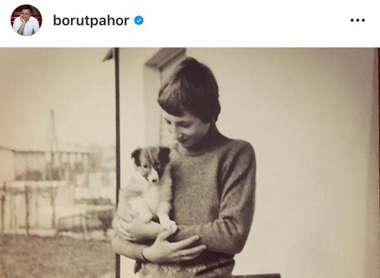 Borut Pahor s psičko Saro.