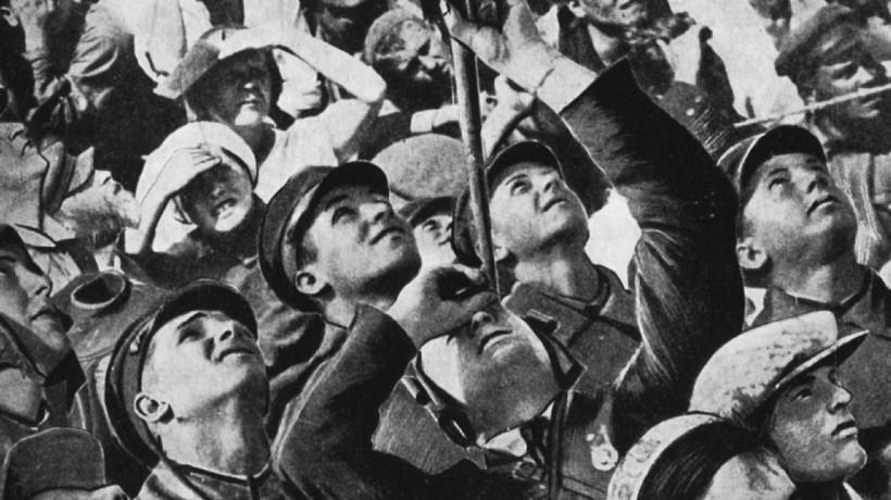 A. Sorokin, iz knjige Potolok mira (Moskva: Sovetska literatura, 1934)
