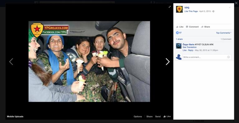 YPG Facebook. Zajem zaslona: 2017-01-08 ob 12.09.50