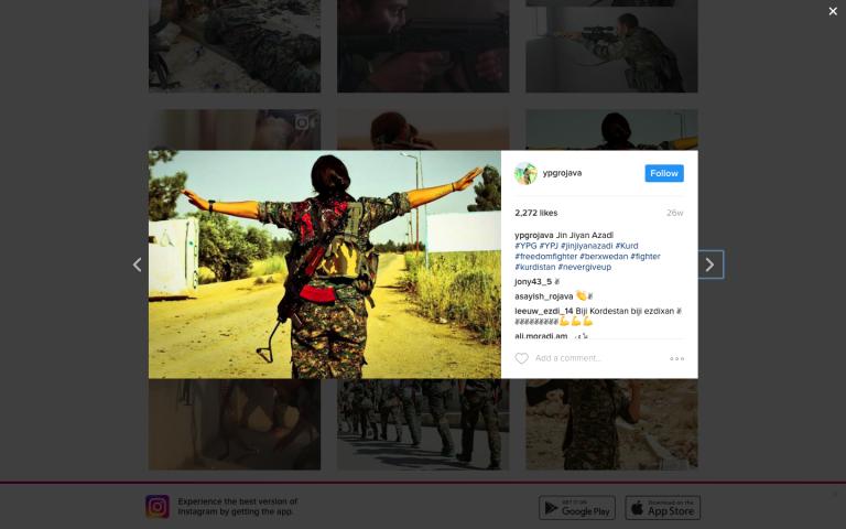 YPG Instagram. Zajem zaslona: 2017-01-22 ob 17.31.36