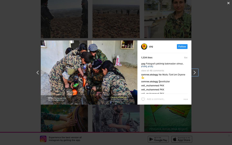 YPG Instagram. Zajem zaslona: 2017-01-22 ob 17.37.54