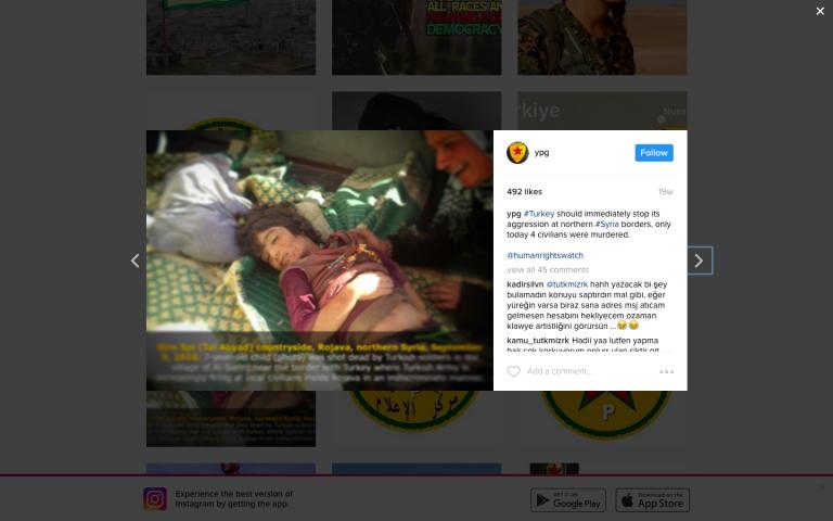 YPG Instagram. Zajem zaslona: 2017-01-22 ob 17.38.46