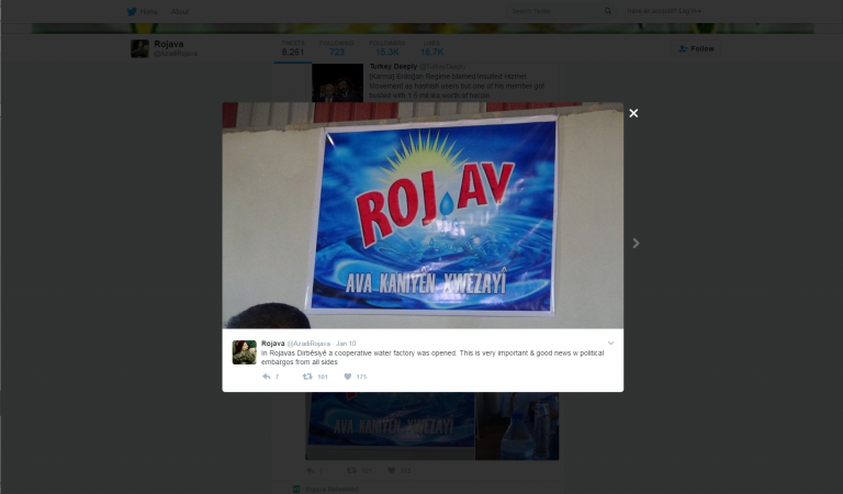 YPG Twitter. Zajem zaslona 20.1.2017 ob 15.57.14.
